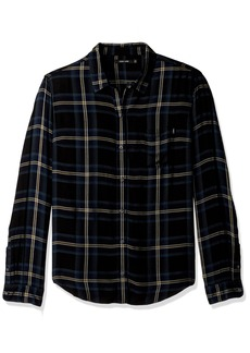 Obey Junior's Ammalyn Button Down Plaid Shirt  L