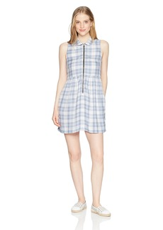 Obey Junior's Angela Collared Sleeveless Dress  L