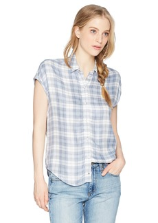 Obey Junior's Angela Oversized Button Down Shirt  XS