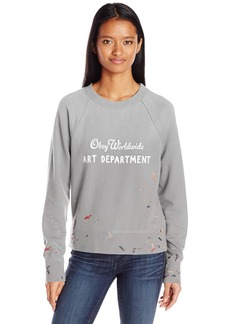 OBEY Junior's Art Department Crew Neck Sweatshirt  M
