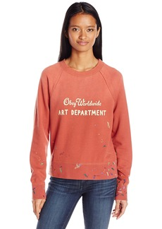 OBEY Junior's Art Department Crew Neck Sweatshirt  M