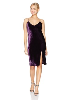 Obey Junior's Blume Midi-Length Velvet Dress  XL
