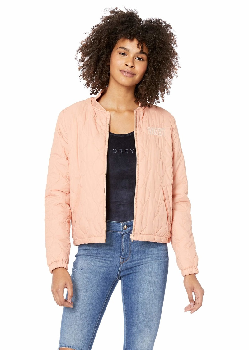 Obey Junior's Bunker Quilted Bomber Jacket