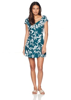 Obey Junior's Calico Button Front Mini Dress  S