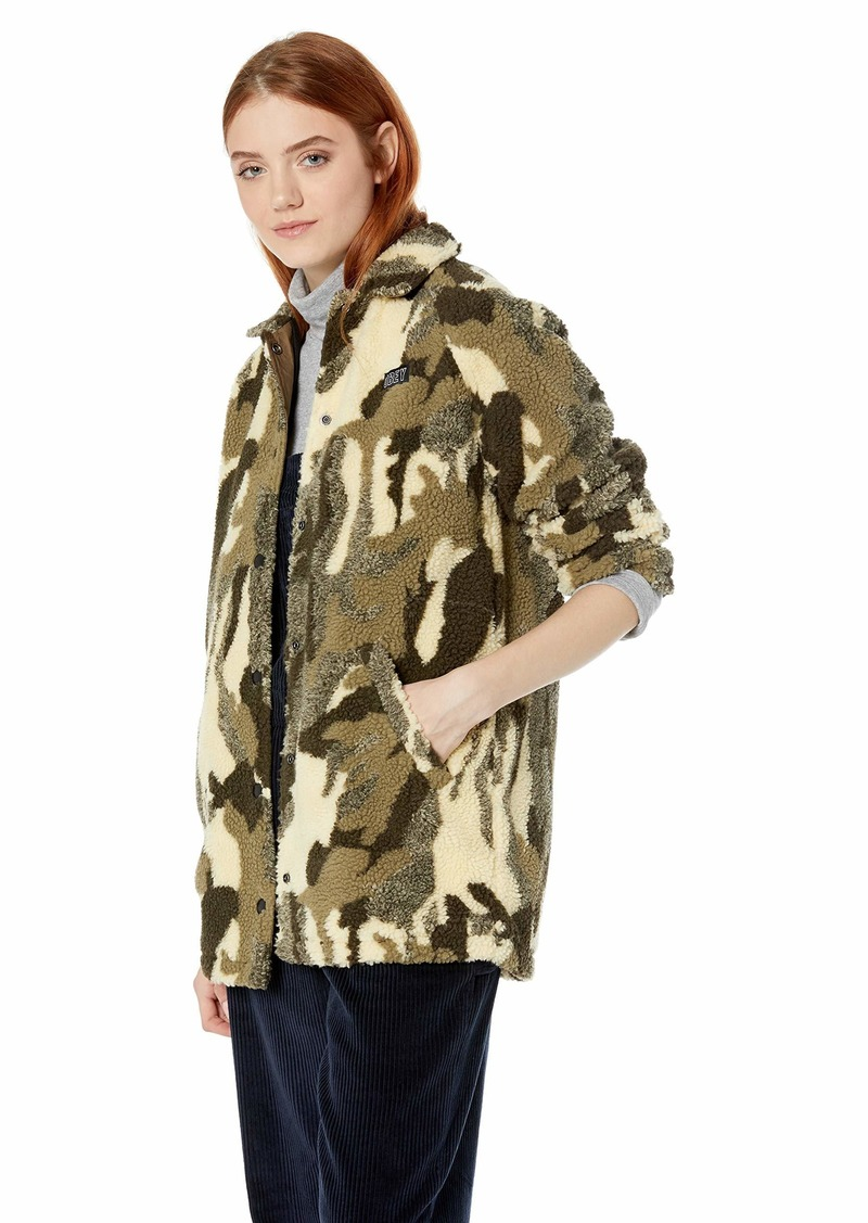 Obey Junior's Covert Sherpa Coach's Jacket camo
