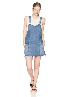 Obey Junior's Debs Denim Overall Dress  S