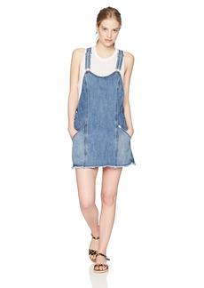 OBEY Junior's Debs Denim Overall Dress  XS