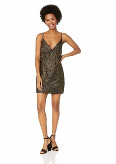 Obey Junior's Dominique Black LACE Slip Dress