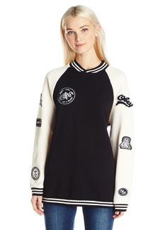 Obey Junior's Far Out Crew Neck Fleece Sweatshirt  XS