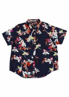 Obey Junior's Jaya Short Sleeve Button Down Shirt  L