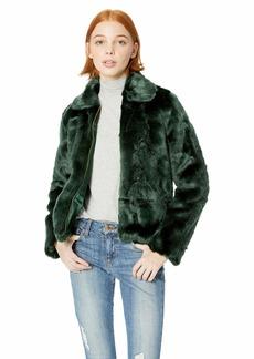 Obey Junior's Kale Faux Fur Bomber Jacket sage