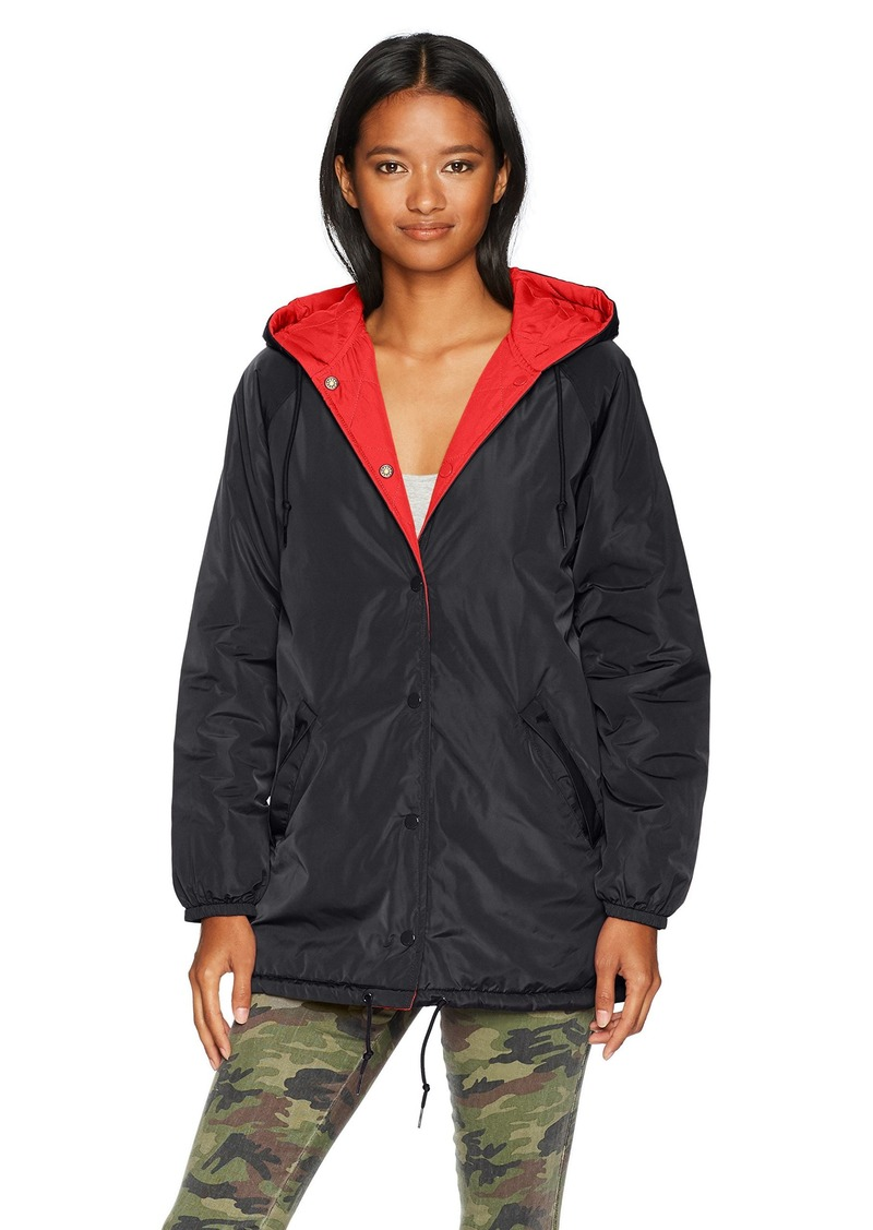 Obey Junior's Kendall Hooded Coaches Jacket  M