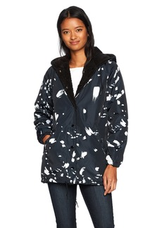 Obey Junior's Kendall Sherpa Hooded Coaches Jacket  M
