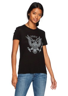 Obey Junior's Look Out Below Babydoll Tee  M