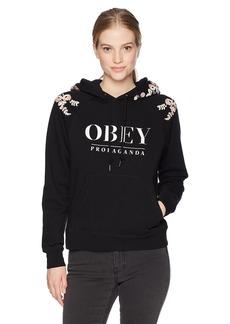 Obey Junior's Lottie Hooded Sweatshirt  XS