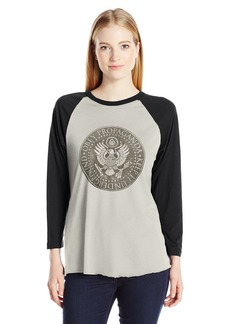 Obey Junior's Oil Eagle Raglan Graphic Tee  S