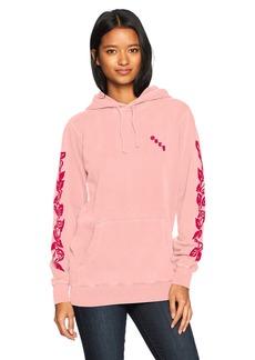 Obey Junior's Olde Rose Pullover Hooded Sweatshirt  L