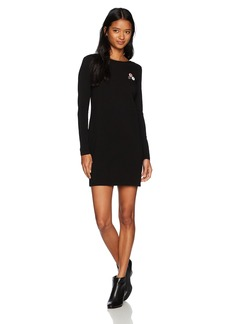 OBEY Junior's Ritchie Long Sleeve Open Back Dress  S