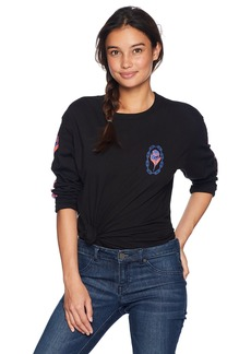 Obey Junior's Rosette Long Sleeve Crew Neck T-Shirt  S