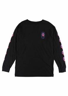 Obey Junior's Rosette Long Sleeve Crew Neck Tshirt  XS