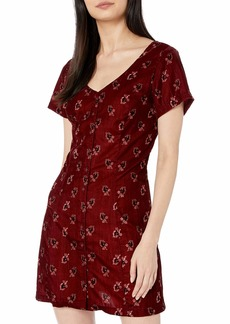Obey Junior's Rouge Dress ox Blood
