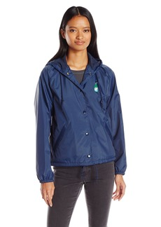 OBEY Junior's Slacker Vibes Taffeta Hooded Jacket  L