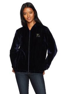 OBEY Junior's Spades Velvet Zip Jacket  L