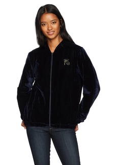 Obey Junior's Spades Velvet Zip Jacket  XL
