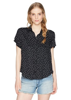 Obey Junior's Stiletto Relaxed Fit Short Sleeve Shirt  M