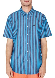 OBEY Langton Short-Sleeve Striped Regular Fit Shirt
