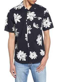 Obey Logan Floral Print Camp Shirt