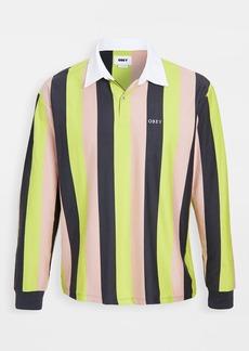 Obey Long Sleeve Side Line Polo Shirt