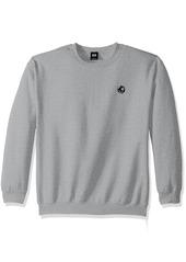 OBEY Men's 8 Ball Crew Neck Fleece Sweatshirt ash Grey M