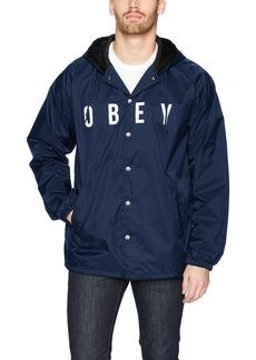 Obey Men's Anyway Coaches Jacket  L