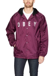 Obey Men's Anyway Coaches Jacket  XL