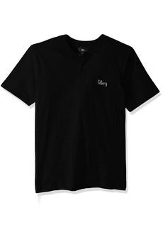 Obey Men's Assignment Regular Fit Short Sleeve Henley