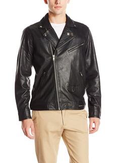 Obey Men's Bastards Leather Jacket