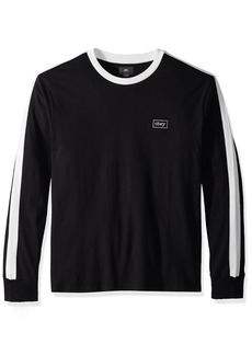 Obey Men's Borstal Box Long Sleever Crew Neck T-Shirt  XXL