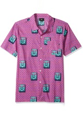 OBEY Men's Brick Short Sleeve Button up Woven Shirt