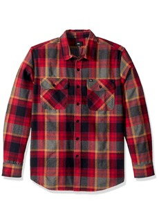 Obey Men's Canvas Long Sleeve Woven Shirt  S