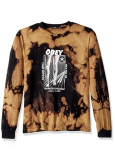 Obey Men's Come With Us Long Sleeve Tie Dye Tee  XL