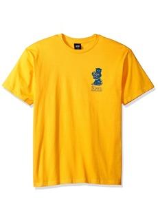 OBEY Men's CUTS & Scratches Heavyweight Crewneck Tshirt  L