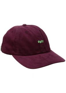 Obey Men's Cutty 6 Panel Snapback Hat