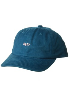 Obey Men's Cutty 6 Panel Snapback HAT deep Teal O/S