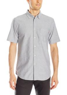 Obey Men's Dissent Trait Woven Short Sleeve Shirt
