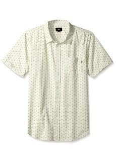 OBEY Men's Dorian Short Sleeve Button UP Woven  L