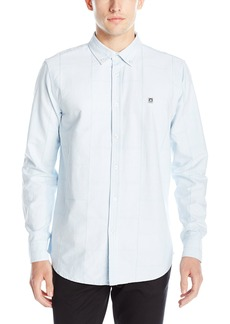 Obey Men's Eighty Nine Patch Woven ong Sleeve Shirt ight Blue arge