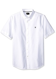 Obey Men's Eighty Nine Short Sleeve Button UP Woven  L