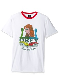 OBEY Men's Fast and Loose Premium Contrast Tee