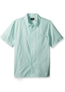 Obey Men's Gavin Woven Short Sleeve Button Up Shirt  M
